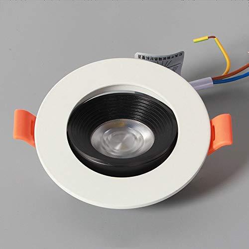 Empotrable LED empotrable moderno Aluminio blanco Panel de rejilla redondo ultra delgado Luces de techo Cocina Centro comercial Foco empotrado Tienda de ropa comercial (Color : 6000K white light)