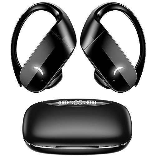Totemoi ワイヤレスイヤホン 【2021進化版 Bluetooth 5.1】 Bluetooth イヤホン 耳かけ 18時間再生 スポーツ ブルートゥース イヤホン 高音質 フィット感抜群 IPX6防水 左右分離型 自動ペアリング Siri対応 自動