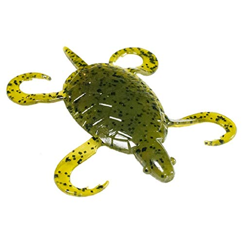 Original Doomzday Turtle 3 in. Soft Plastic Fishing Lure 5-Pk (Green Pumpkinseed)