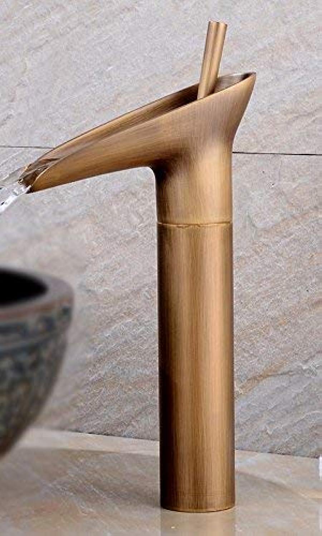 Oudan Full Copper European Style Hot And Cold Single Handle Single Hole Wash Basin Art Basin All Copper Sink Faucet