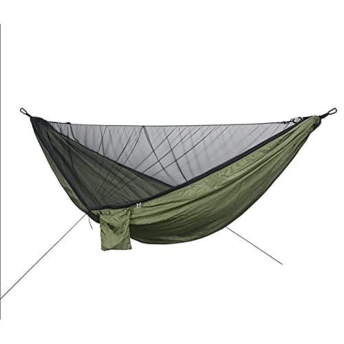 ZHZHUANG Haa Camping Haa Doble Amplificador; Tienda de Haa de Paracaídas de Nylon de un Solo Portátil con la Red Anti-Mosquitera para el Patio Trasero de Viaje Al Aire Libre Interior,D