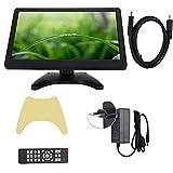 Monitor Computadora, Monitor para Juegos 11.6 Pulgadas con Soporte Ajustable, Pantalla LED 16: 9 1366x768 para Seguridad en el Hogar/Computadora/CCTV/Pantalla Video Cámara/Juegos(Negro)