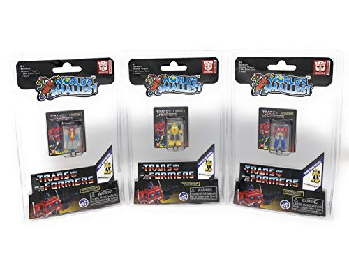 World's Smallest Transformers Bundle Set of 3 Mini Figures - Optimus Prime - Bumblebee - Starscream