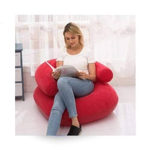 Gather together Sofá inflable de doble uso para interiores y exteriores, cojín perezoso, sofá de fútbol, pequeño apartamento en casa, sofá individual de ocio y entretenimiento taburete