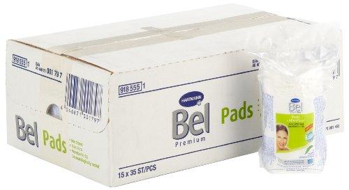 Bel - 918555 Premium - Disques de coton à l'aloe vera, provitamine B5 et fleurs en relief - Petit, rond - 15 sachets de 35 disques