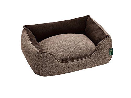 HUNTER BOSTON COZY Hundesofa, Hundebett, Wendekissen, kuschelig, weich, mit Plüsch, M, braun