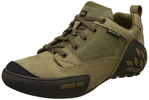 Woodland Men's Khaki Leather Sneaker-5 UK (39 EU) (GC 1868115)