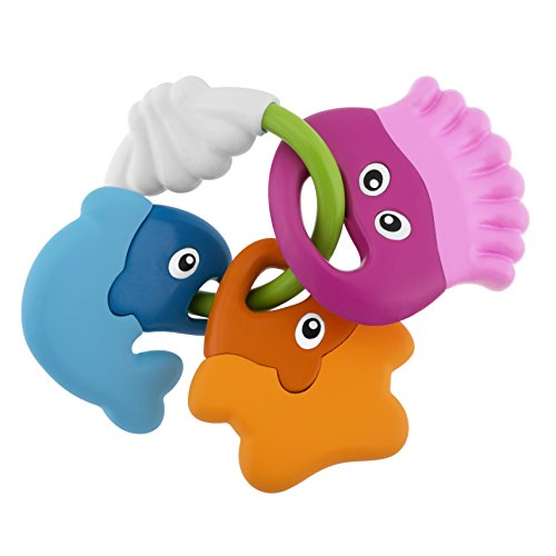 Chicco- Baby Senses-Sea Creatures Teether Jake Peces Sonajeros Mordedores, Multicolor (00005956000000)