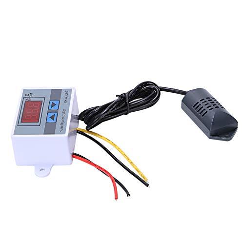 Globalflashdeal Regolatore di umidità digitale Igrometro Interruttore di controllo umidità 0~99% Rh Igrostato con sensore di umidità AC220V