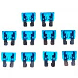 10pcs 15a 32v Cuchilla Estandar Azul Fusibles De Recambio Para Automovil Coche