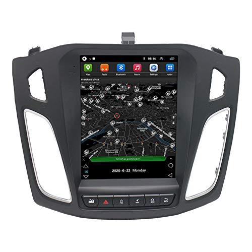 ADMLZQQ Android 10 Autoradio 2 DIN Car Stereo Coche GPS Navegacion para Ford Focus 2012-2018 Soporte Carplay con cámara Trasera/Google Play/Mapa en línea/Salida de Video,4g WiFi 2+32