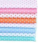 MAGFYLYDL Tela de algodón patchwork de lunares tela de algodón Tela de algodón para sábanas y edredones Paño de algodón para toallas de saliva de bebé (color azul)