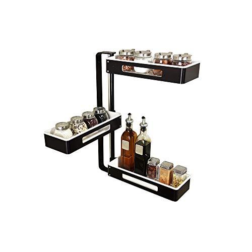 SLMY 3-Tier Spice Rack, plank bad douchebak gemakkelijk schoon te maken - zonder boren duurzaam voor het opslaan van honing of jam potten