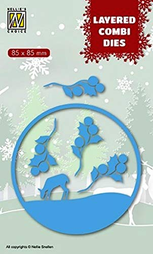Nellie's Choice Christmas Layered Combi Dies – Christmas Deer (Layer B) 85 x 85 mm