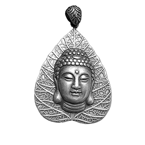 Buddha Colgante Collar Amulet Hombre Plata De Ley 990 Plata Joyas En Forma De Corazón Regalo Ideal para Hombre Jewelle con Embalaje