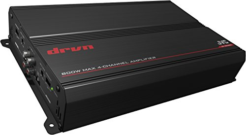 JVC KS-DR3004 1000W Peak DRVN Series Class-AB Bridgeable 4-Channel Power Amplifier
