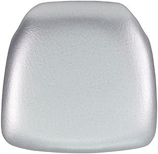 Flash Furniture Hard Silver Vinyl Chiavari Chair Cushion