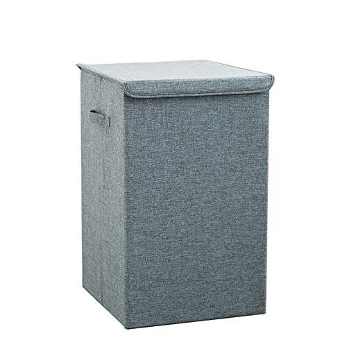 Cestos para ropa sucia en transpirable – Cesto plegable para colada de diseño – Con tapa y asas – Bolsa para guardar ropa en el lavadero, baño o dormitorio