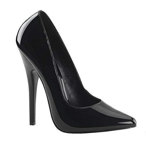 Higher-Heels PleaserUSA Pumps Domina-420 Lack schwarz Gr. 48