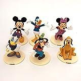 qinhuang 6 Unids / Set Figuras De Mickey Mouse Juguetes Modelo De Acción De PVC, Juguete De Decoración De Anime Muñeca Coleccionable Niños Cumpleaños Presen