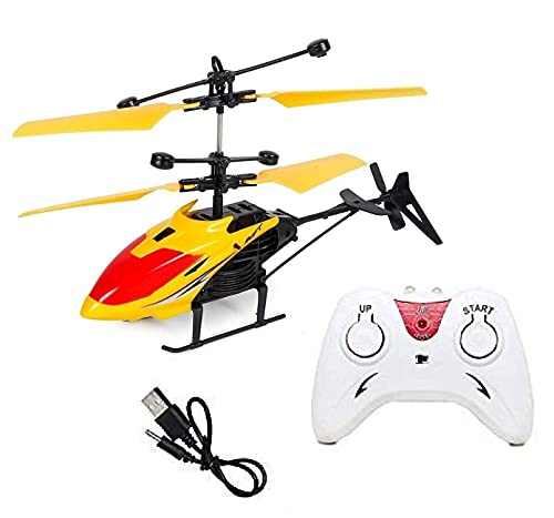 Qualimate RC Helicopter with 3D Light & Electronic Radio Charging Toy Exceed Flying Toy for Kids Helicopter Toys for Adult Hand Sensor Helicopter Induction Flight Remote Control Toy (Multicolour)