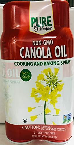 Non- GMO Canola Oil Spray for Cooking and Baking