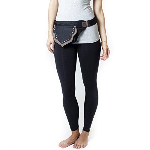 Stylish-Trendy Hip Belt Bag for Women, Perfect for Festivals like Burning Man.-Black-One Size