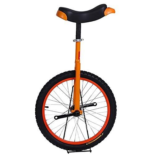 Einrad Orange Kinder/Kind 20 / 18inch Rad Einrad, Jugendliche/Anfänger 16inch Gleichgewicht Radfahren, mit Leakproof Butyl Reifen, Übung Gesundheit (Size : 20inch)
