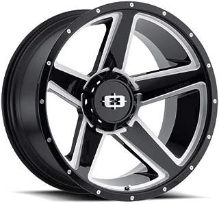 VIS-VOR 4 Vision 390 Empire 22x11.5 8x6.5-44mm Black/Milled Wheels Rims 22
