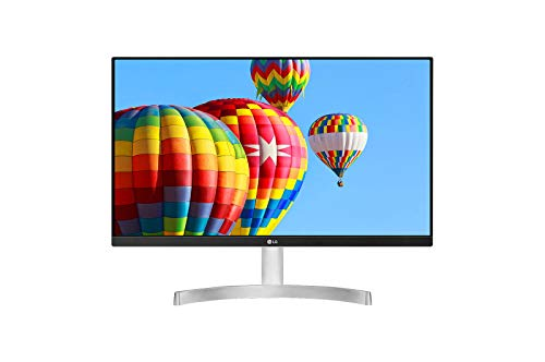 LG 24MK600M-W - Monitor FHD de 60,4 cm (23,8') con Panel IPS (1920 x 1080 píxeles, 16:9, 250 cd/m², NTSC 72%, 1000:1, 5 ms, 75 Hz) Color Negro/Plata/Blanco
