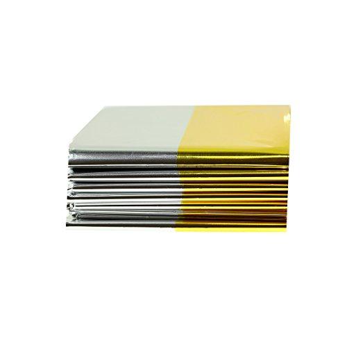 Unbekannt Rettungsdecke Gold-Silber-Folie 160 x 210cm