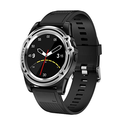 ZXQZ Relojes de Pulsera Reloj Inteligente, Reloj de Fitness con Pantalla Redonda HD con Cámara HD 720P, Rastreadores de Actividad con Notificación de Llamada SNS, para Mujeres Hombres Watches