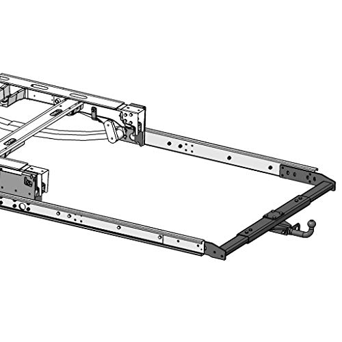 Enganche de remolque variable para autocaravana, Fiat Ducato, Peugeot Boxer, Citroen Jumper Pritsche (a partir de 2006), incluye extensión de marco L = 1500 mm y juego eléctrico específico de 13 polos