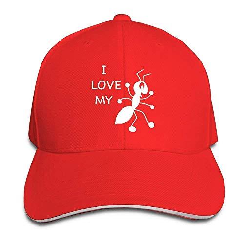 Berretto da Baseball Classico, Berretto da Baseball Sandwich Regolabile Unisex I Love My Aunt Trucker Hat Red