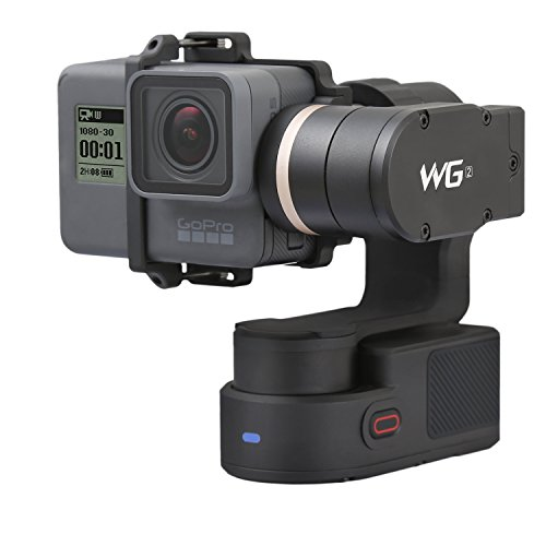 Feiyu Tech WG2 3-axis indossabile giunto cardanico con nuovo treppiede, adatto per action camera GoPro Hero 5, Hero 4, Session, Yi 4 K, AEE SJCAM, ecc. Impermeabile IP67, Autorotazione, due assi Unlimited rotante, controllo bluetooth