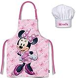 Minnie Kinder Koch-Set Kochschürze und Kochmütze