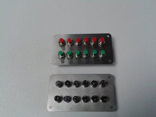 Panel Schalterpanel 12x Taster (Weichentaster) Edelstahlblende matt NEU sehr klein