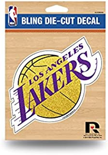 Rico Industries NBA Los Angeles Lakers Sports Fan Automotive Decals, Purple & Yellow, One Size