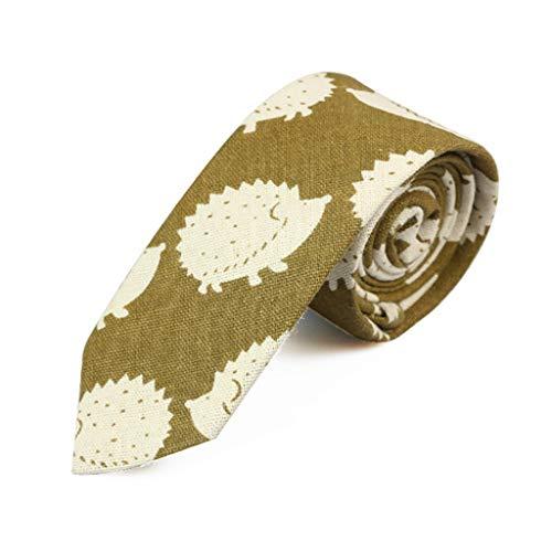 WE-WHLL Nuevos Lazos con Estampado de Dibujos Animados Moda Hombre Fiesta Corbata Estrecha Informal Hop Corbata Ajustada de algodón Floral