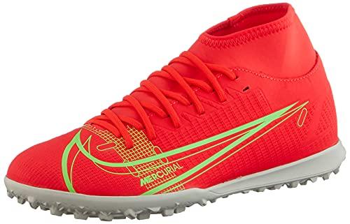 Nike Superfly 8 Club TF, Scarpe da Calcio Unisex-Adulto, BRT Crimson/Mtlc Silver-Indigo Burst-White-Rage Green, 43 EU