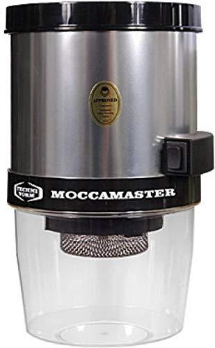 Moccamaster KM4 Kaffeemühle für Wandmontage poliert, Aluminium, Schwarz, Farbe