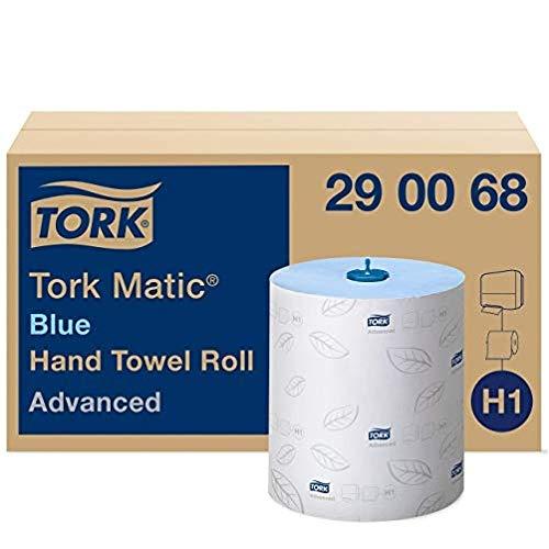 Tork Matic Rollenhandtuch Advanced 290068 - H1 Papierhandtücher für Rollenhandtuchspender, saugfähig und reißfest, nachverfolgbare Herkunft, 2-lagig, blau - 6 Rollen x 150 m