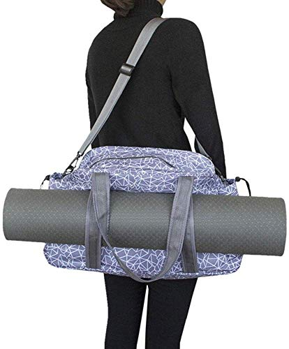 Fnoko Yoga Mat Tote Storage Bag Pilates Clothing and Gym Accessories Carrier Large Capacity