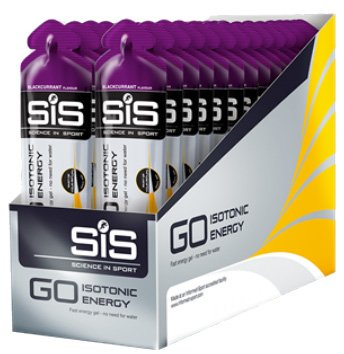 S.I.S Sis Unisex's GO Isotonic Energy Gel, Blackcurrant, 60 x 30 ml