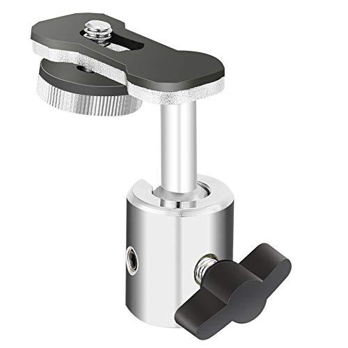 Neewer Video Cámara Digital Grabadora Adaptador con Mini Cabeza de Bola de 360-grado Pan y Movimiento de Inclinación de 180-grado para Conectar Cámara, Videocámara, Grabadora con Soporte de Micrófono