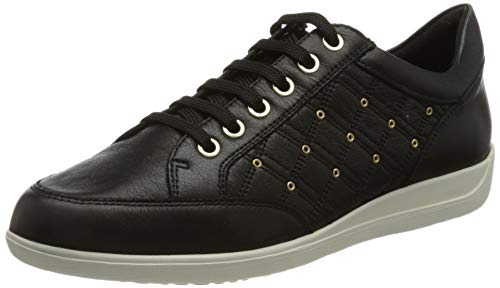 Geox D Myria H D15, Zapatillas Mujer, Negro, 40 EU