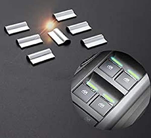 Emblem Trading Mittelkonsole Armaturenbrett Blende Verkleidung Rahmen für Fensterheber Edelstahl Optik Autozubehör
