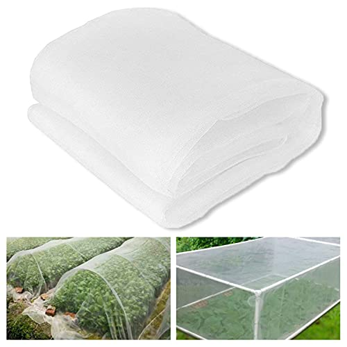 Photo of Mirocle Life Insect Protection Net, Garden Vegetable Protection Mesh Net, Grow Tunnel Fine Mesh Greenhouse for Vegetables Plants Fruits (10 * 2.5M)