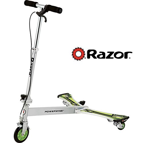 RAZOR Kinder Tricycle Powerwing DLX Scooter 3 Wheels, Silver, one size