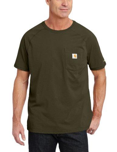 Carhartt Herren Force Cotton Delmont Kurzarm-T-Shirt (Regular und große und große Größen) - Grün - Groß